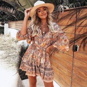 🌟RESTOCKED🌟 Boho Floral Print Puff Sleeve Dress